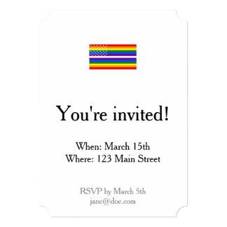 Gay Pride US Flag - 13 Colonies of Gay Pride Card
