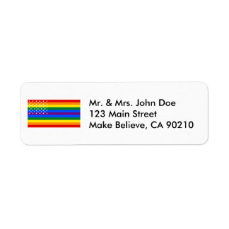 Gay Pride US Flag - Stars and Stripes Label