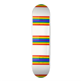 Gay Pride US Flag - Stars and Stripes Skateboard Deck