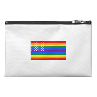 Gay Pride US Flag - Stars and Stripes Travel Accessory Bag