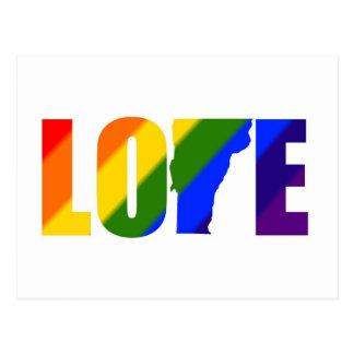 Gay Pride Vermont Love Postcard