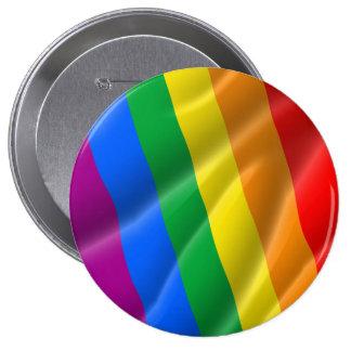 GAY PRIDE WAVY LINES DIAGONAL - 2014 PRIDE BUTTON
