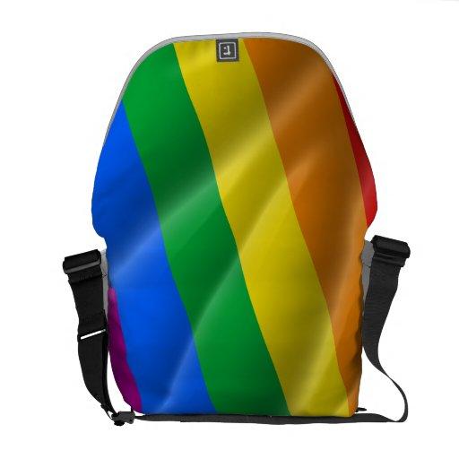 GAY PRIDE WAVY LINES DIAGONAL - 2014 PRIDE MESSENGER BAG