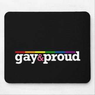 Gay&proud Black Mousepad
