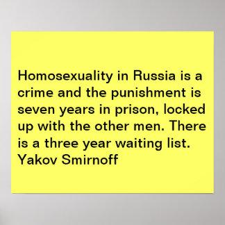 Gay Quote Poster, Yakov Smirnoff Poster