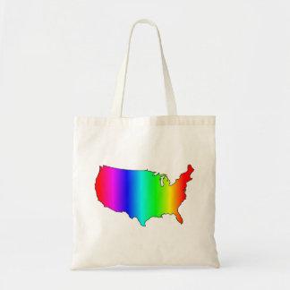 GAY RAINBOW AMERICA TOTE BAG
