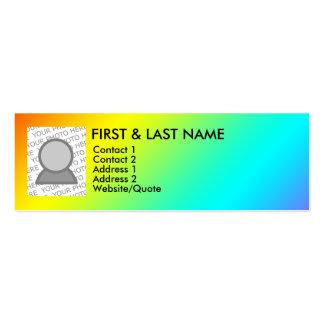 gay rainbow business card