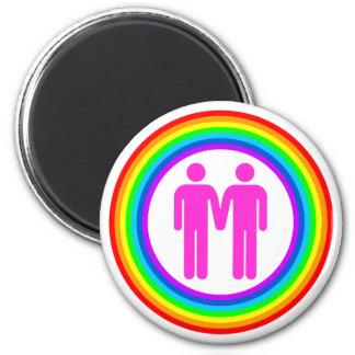 Gay Rainbow Couple Magnet