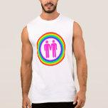 Gay Rainbow Couple Men's Sleeveless Tees