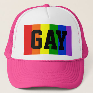 Gay Rainbow Flag Ball Cap - Pink