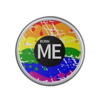 Gay Rainbow Flag Born This Way Bluetooth Speaker