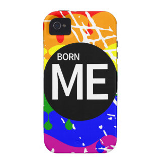 Gay Rainbow Flag Born This Way Case-Mate iPhone 4 Case