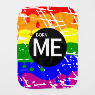 Gay Rainbow Flag Born This Way Burp Cloths
