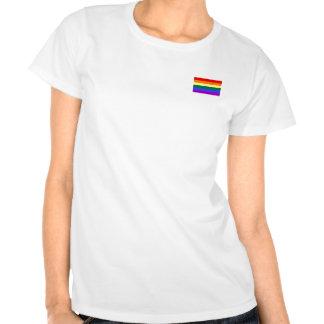 Gay rainbow flag women's t-shirt