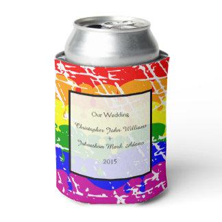 Gay Rainbow Freedom Flag Wedding Keepsake Can Cooler