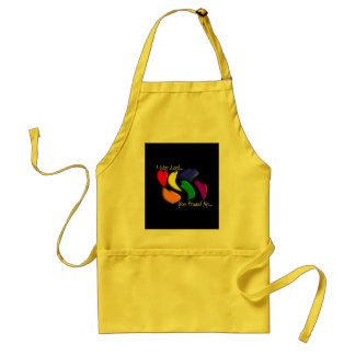 """Gay Rainbow Hearts """"I was lost, you found me"""" Aprons"""