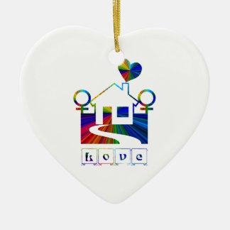 Gay rainbow home- LOVE Ornaments