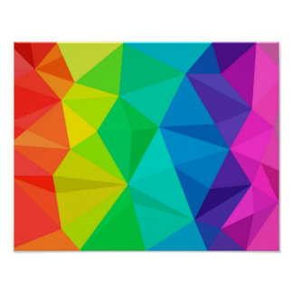 gay rainbow low poly background abstract pattern poster