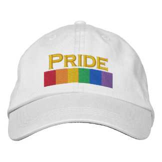 Gay Rainbow Pride Flag Strip Embroidered Baseball Hat