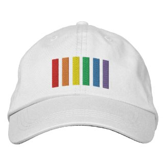 Gay Rainbow Pride Flag Stripes Embroidered Baseball Cap