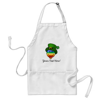 Gay Rainbow Pride Flag with St. Patrick's Day Hat Apron