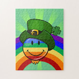 Gay Rainbow Pride Flag with St. Patrick's Day Hat Puzzles