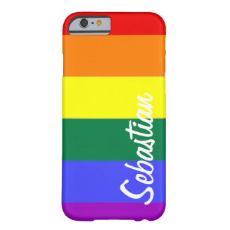 Gay Rainbow Pride Personalized iPhone 6 Case