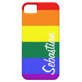 Gay Rainbow Pride Personalized iPhone SE/5/5s Case