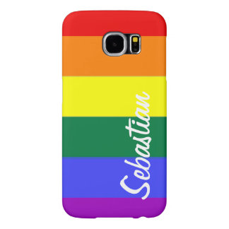 Gay Rainbow Pride Personalized Samsung Galaxy S6 Case