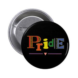 Gay Rainbow Pride Pinback Button