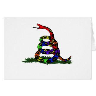Gay Rainbow Snake Cards