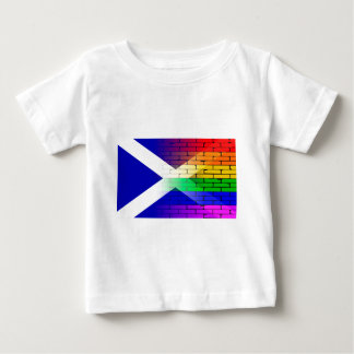 Gay Rainbow Wall Scotland Flag Baby T-Shirt