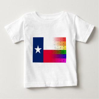 Gay Rainbow Wall Texan Flag Baby T-Shirt
