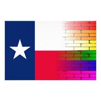 Gay Rainbow Wall Texan Flag Stationery
