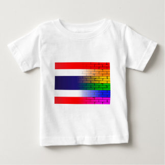 Gay Rainbow Wall Thai Flag Baby T-Shirt
