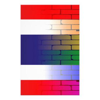 Gay Rainbow Wall Thai Flag Stationery