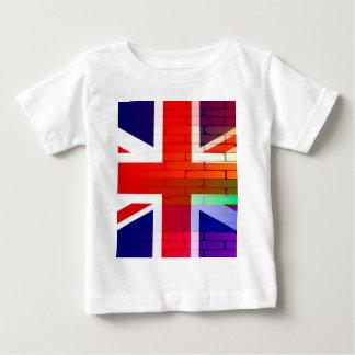 Gay Rainbow Wall Union Jack Baby T-Shirt