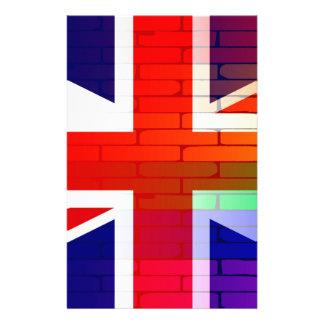 Gay Rainbow Wall Union Jack Stationery