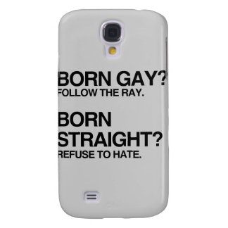 GAY RAY STRAIGHT HATE GALAXY S4 COVER