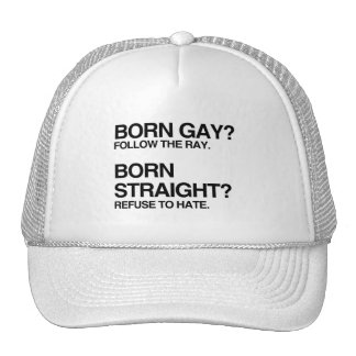 GAY RAY STRAIGHT HATE HATS