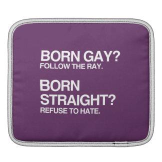 GAY RAY STRAIGHT HATE iPad SLEEVES