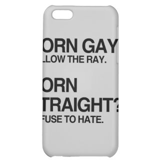 GAY RAY STRAIGHT HATE iPhone 5C CASES