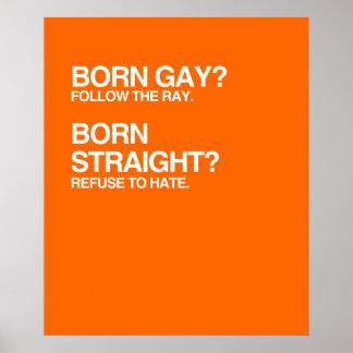 GAY RAY STRAIGHT HATE PRINT