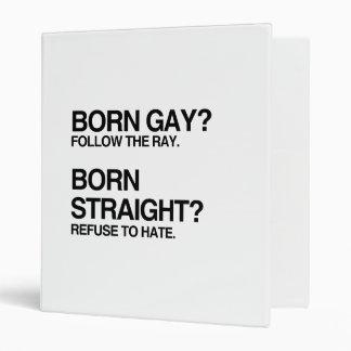 GAY RAY STRAIGHT HATE VINYL BINDERS