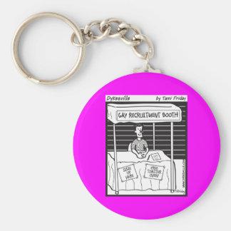 Gay Recruit Basic Round Button Keychain