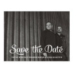Gay Retro Save the Date Photo Post Card Postcards