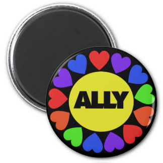 Gay Rights Ally 2 Inch Round Magnet