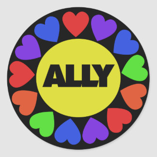 Gay Rights Ally Classic Round Sticker