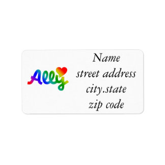 Gay Rights ALLY Label