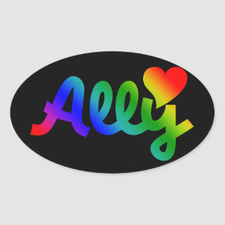 Gay Rights ALLY Oval Sticker